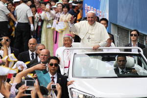 Pope Calls for Catholics to Combat Materialism in South Korea
